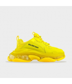 Balenciaga Triple S Clear Sole Yellow (Желтые) - Женские Кроссовки