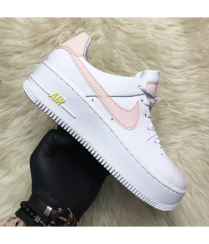 Nike Air Force Low White Pink - Женские Кроссовки