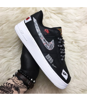 Nike Air Force 1 Low Just Do It Black - Женские Кроссовки