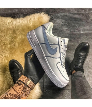 Nike Air Force 1 Low White REFLECTIVE. - Женские Кроссовки