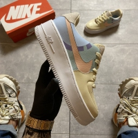 Nike Air Force 1 Sage Low LX Beige/Pale Blue-Pink - Женские Кроссовки