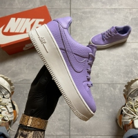 Nike Air Force 1 Low Violet White - Женские Кроссовки