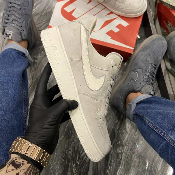 Nike Air Force Luxury Suede Light Grey - Мужские Кроссовки