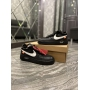Nike Air Force 1 Low Off x White BLACK - Женские Кроссовки