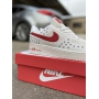 Nike Air Force 1 Low White Red - Мужские Кроссовки
