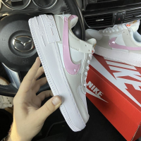 Nike Air Force Shadow Grey Pink - Женские Кроссовки