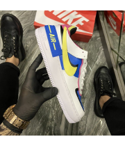 Nike Air Force Shadow White Blue - Женские Кроссовки