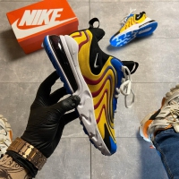 Nike Air Max 270 React Eng Yellow Blue- Мужские Кроссовки