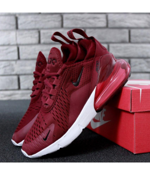 """Nike Air Max 270 """"Red/White/Red"""" - Женские кроссовки"""