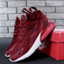 """Nike Air Max 270 """"Red/White/Red"""" - Женские Кроссовки на Весну"""