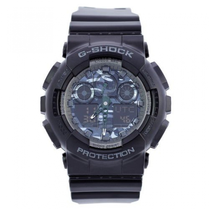 Casio G-Shock AAA GA 100 Black Gray Military