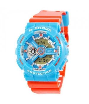 Casio G-Shock AAA GA-110 Blue-Orange