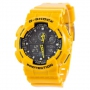 Casio G-Shock AAA GA-100 Yellow-Black