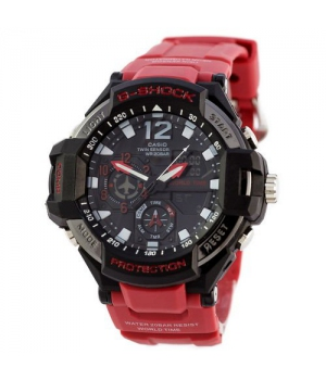 Casio G-Shock GA-1100 Black-Red Wristband