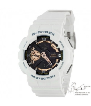 Casio G-Shock AAA GA-110 White-Сuprum Autolight