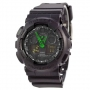 Casio G-Shock AAA GA-100 Black-Green Arrow Autolight