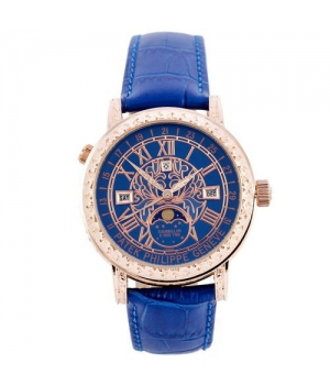 Patek Philippe Grand Complications 6002 Sky Moon Blue-Gold-Blue