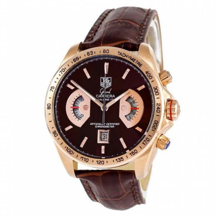 Tag Heuer Grand Carrera Calibre 17 Quartz Brown-Gold-Brown