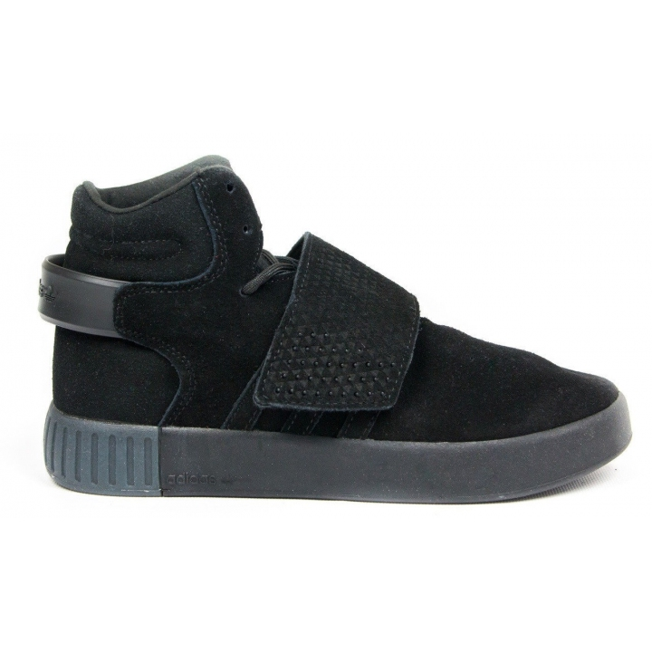Adidas Tubular Invader Suede Snap Full Black - Мужская обувь
