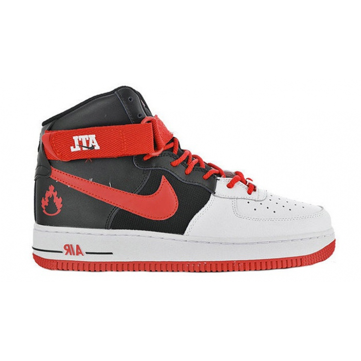 Nike Air Force High Black Red